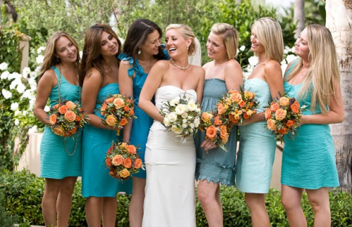 Bright Coloured Bridesmaid Dresses: Spring 2012 Trends For The Wedding Party