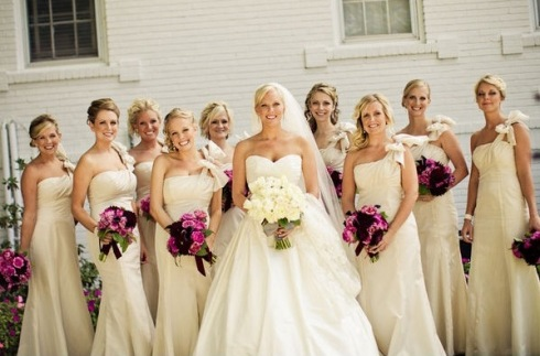 Bridesmaid dress issues is ivory a good option? - Weddingbee