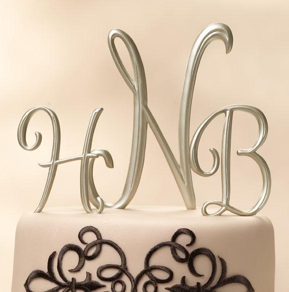 Similiar Monogram Wedding Cake Toppers Keywords