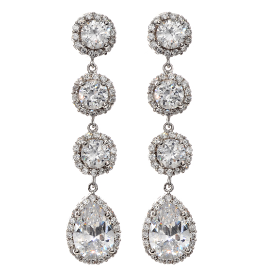 B116 - Classic Drop Wedding Earrings
