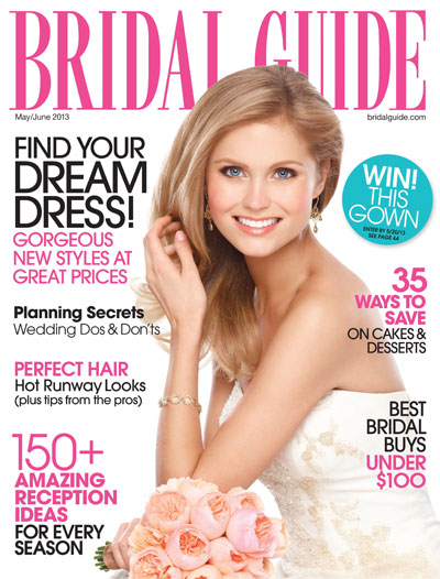 Pick up the June 2013 issue now! Or head to: http://www.bridalguide.com