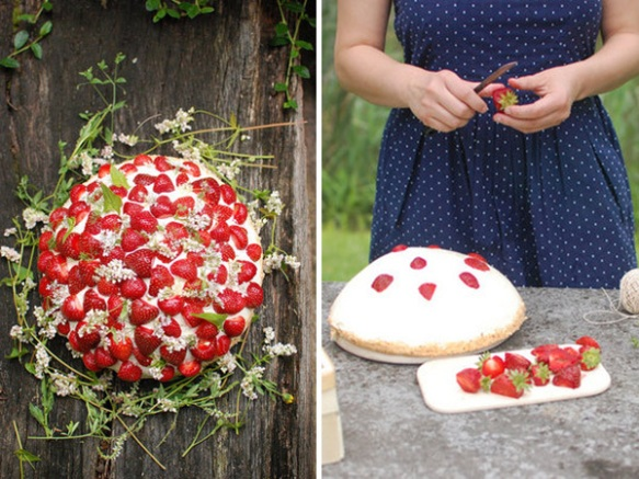 Find out how to make this fabulous Strawberry Shortcake for a BBQ rehearsal dinner, here: http://bit.ly/193Omrc