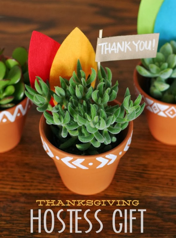 Succulents make great hostess gifts! Head here for a potting tutorial: http://eighteen25.blogspot.com/2013/11/thanksgiving-hostess-gift.html
