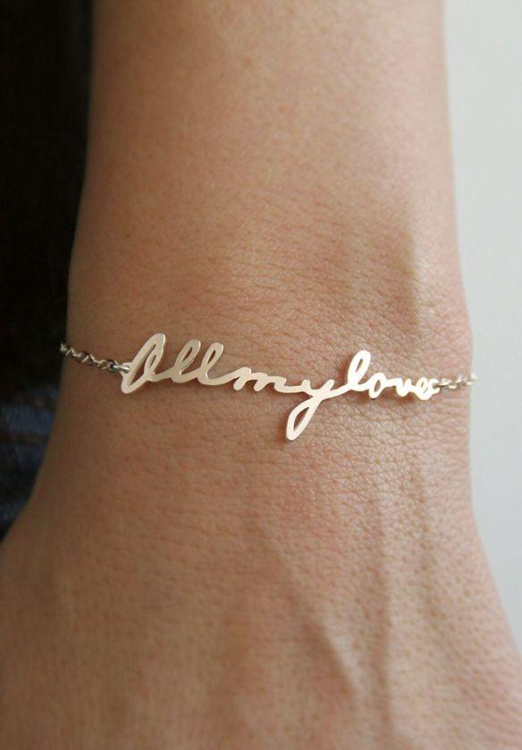 Image via http://www.etsy.com/listing/171103271/signature-bracelet-handwriting-bracelet?ref=market